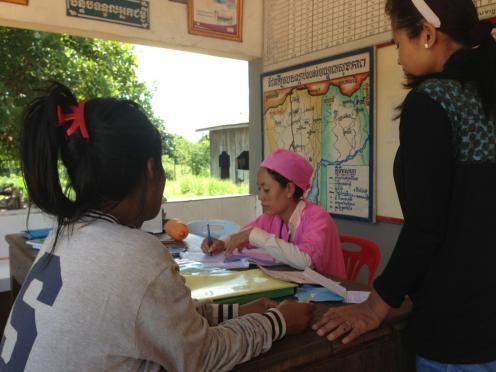 Health worker Cambodia