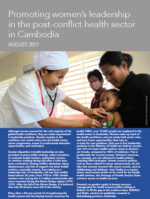 Cover of the women leadership in Cambodia brief