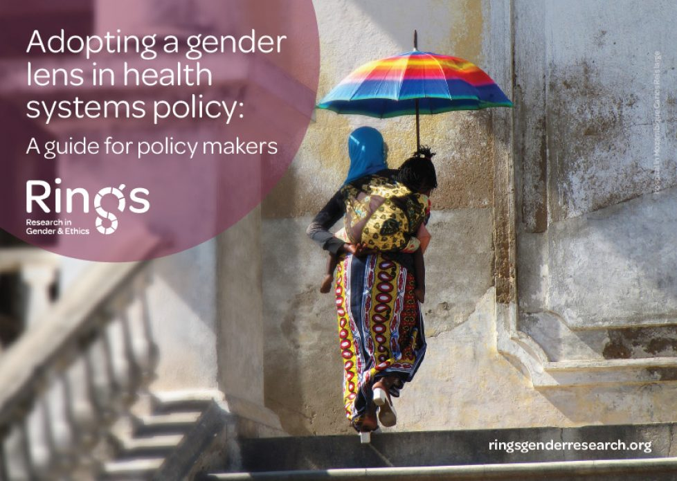 Adopting a gender lens in health systems policy